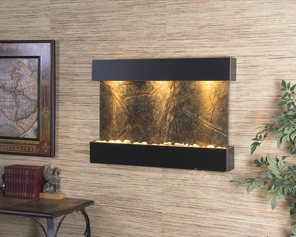 Reflection Creek: Rainforest Green Marble and Blackened Copper Trim