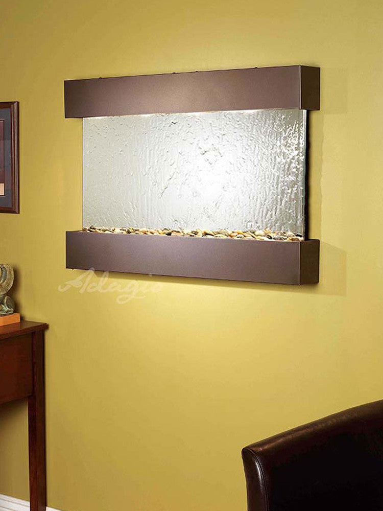 Reflection Creek: Silver Mirror and Antique Bronze Trim