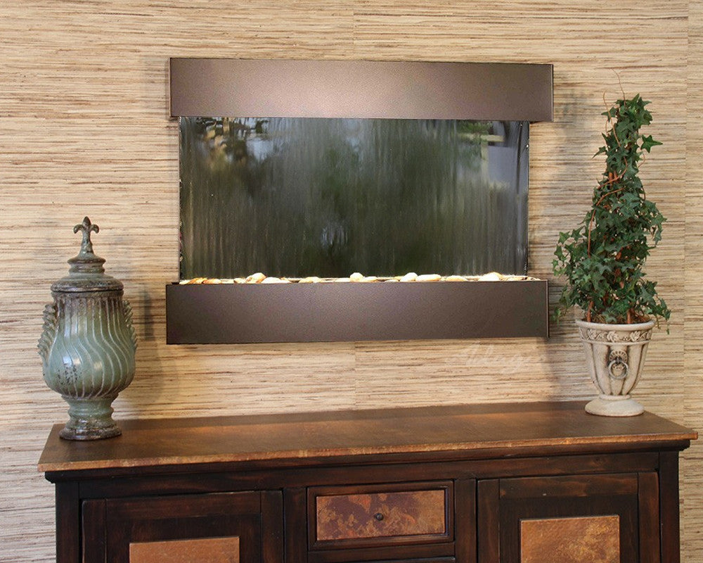 Reflection Creek - Silver Mirror - Antique Bronze - Soothing Walls