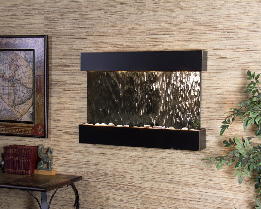 Reflection Creek: Silver Mirror and Blackened Copper Trim