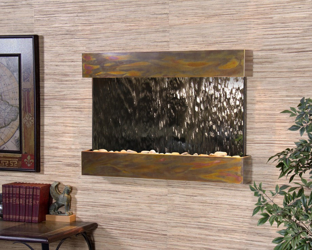 Reflection Creek - Silver Mirror - Rustic Copper - Soothing Walls