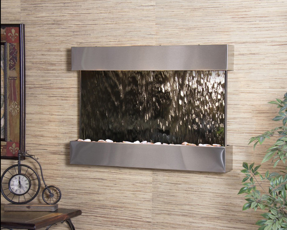 Reflection Creek - Silver Mirror - Stainless Steel - Soothing Walls