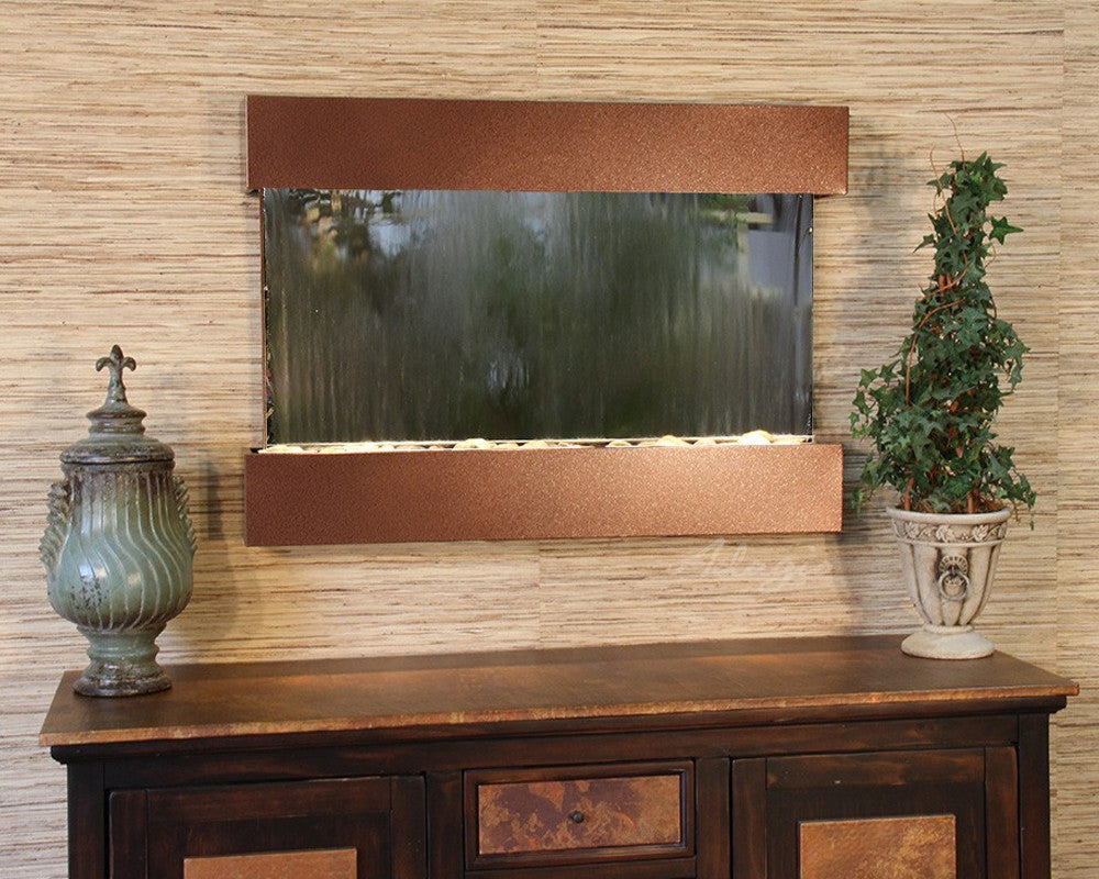 Reflection Creek - Silver Mirror - Woodland Brown - Soothing Walls