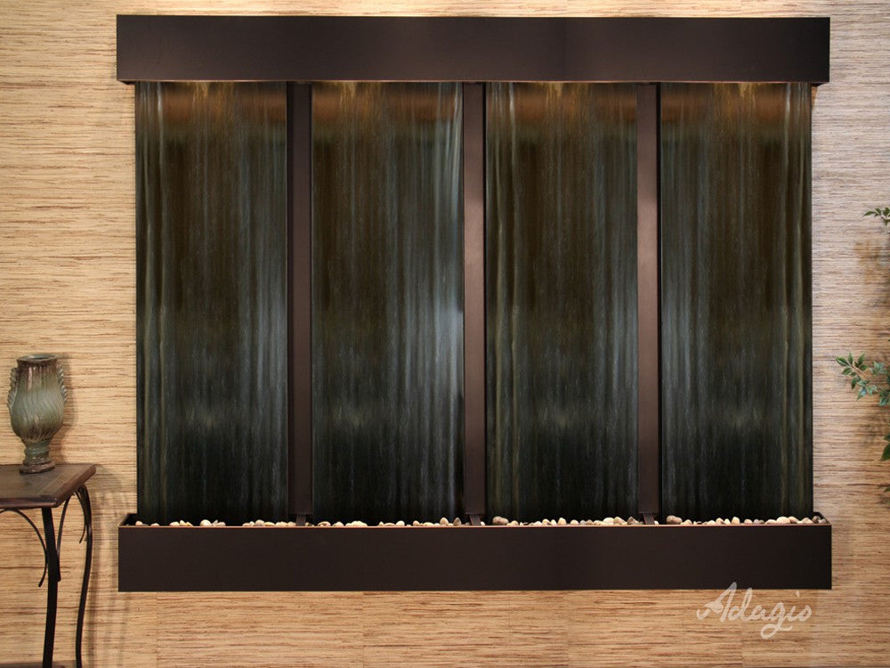 Regal Falls - Bronze Mirror - Blackened Copper - Squared Corners - Soothing Walls