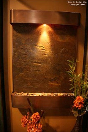 Serene Falls Copper Wall Fountain - Soothing Walls