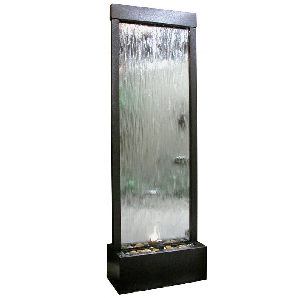 Silver Mirror Waterfall Fountain - Soothing Walls