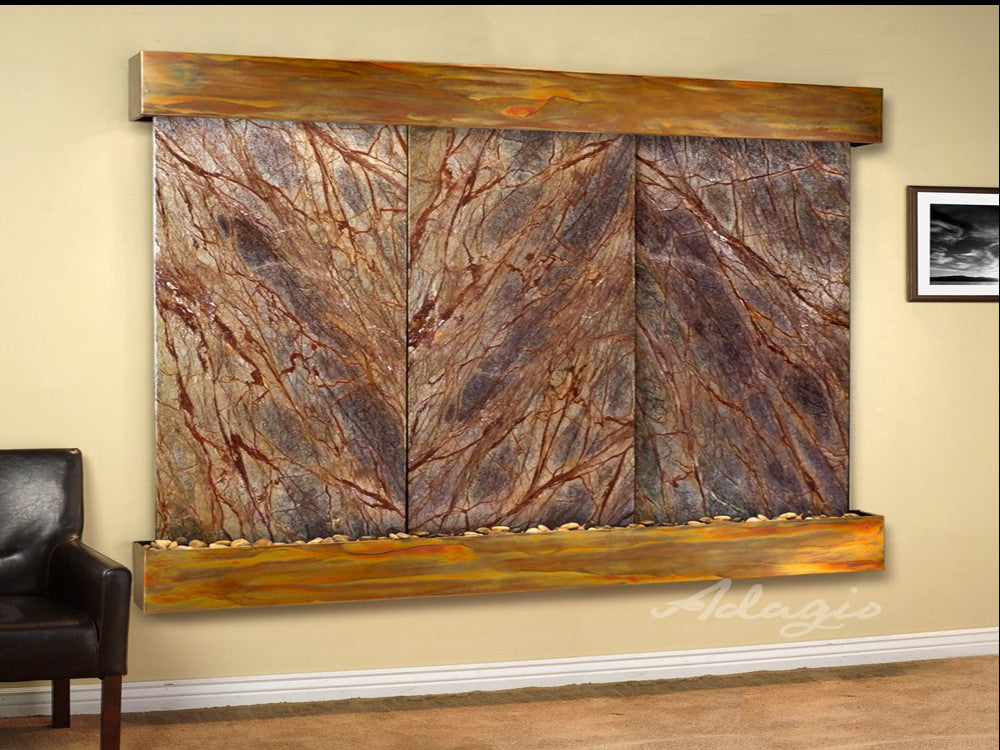 Solitude River - Rainforest Brown Marble - Rustic Copper - Squared Corners - Soothing Walls