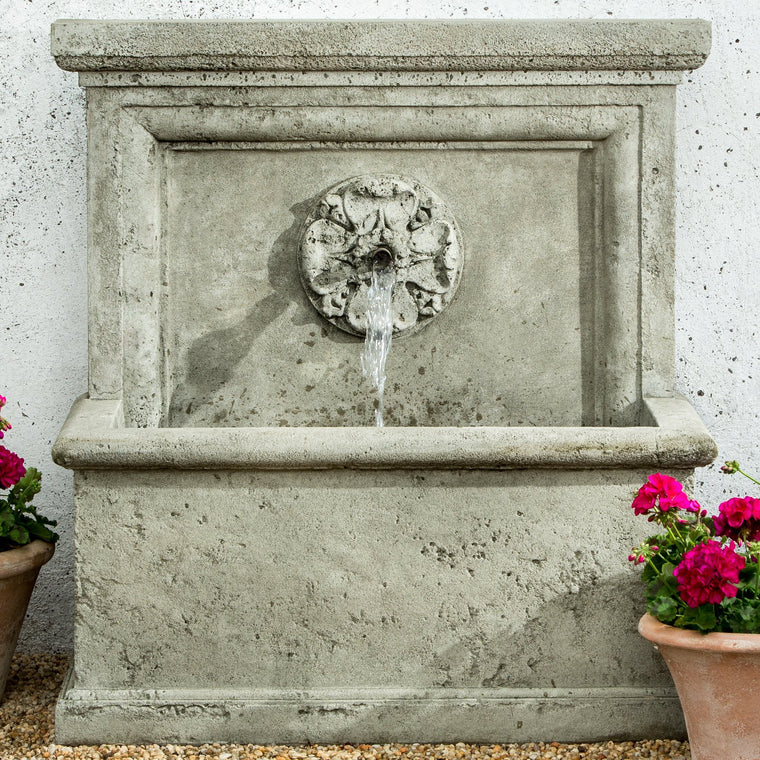 St. Aubin Outdoor Water Fountain - Soothing Walls