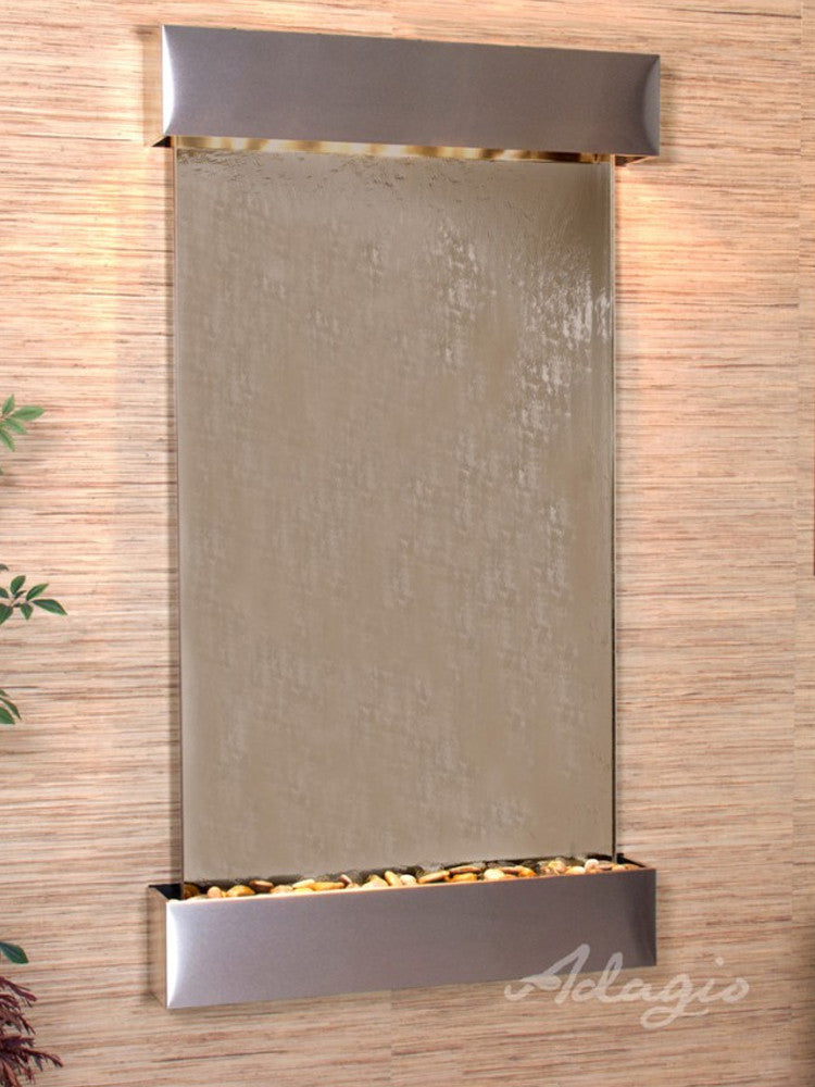Summit Falls: Bronze Mirror and Stainless Steel Trim with Squared Corners