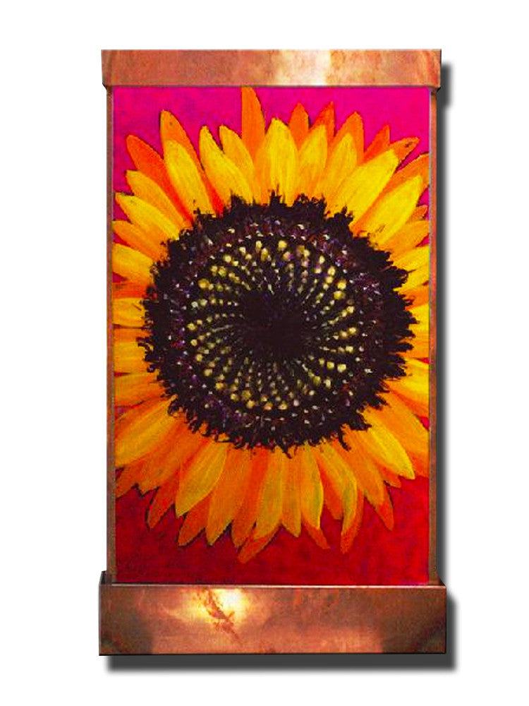 Sunflower Wall Fountain - Soothing Walls