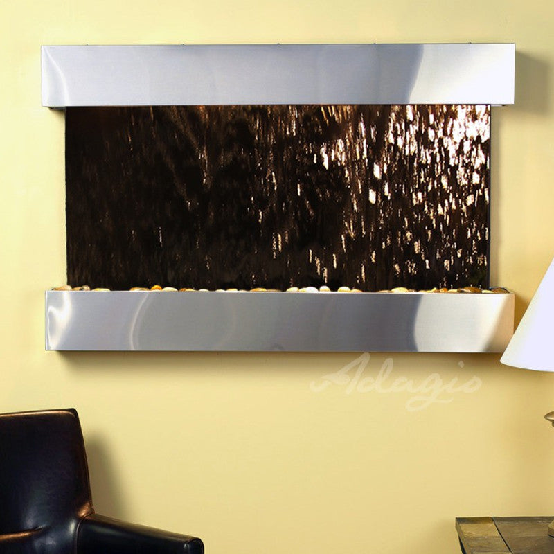 Sunrise Springs - Bronze Mirror - Stainless Steel - Squared Corners - Soothing Walls