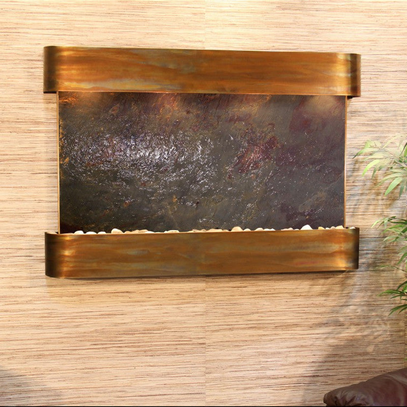 Sunrise Springs - Multi-Color FeatherStone - Rustic Copper - Rounded Corners - Soothing Walls