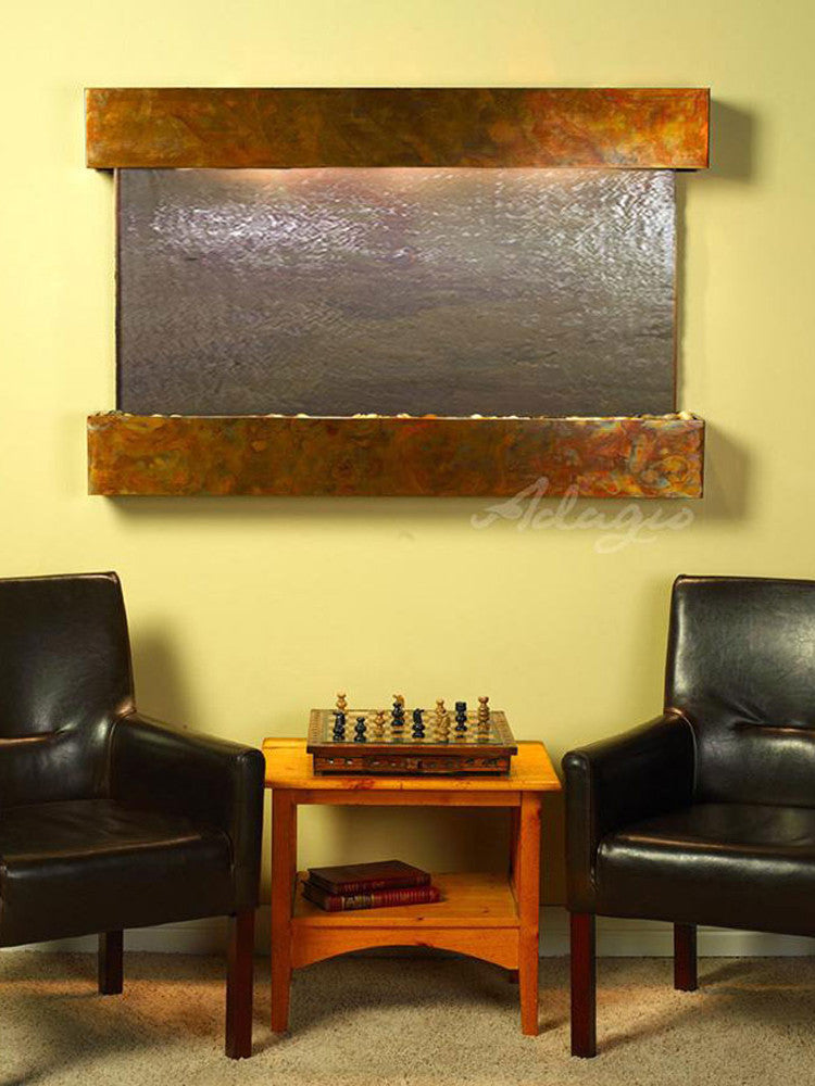 Sunrise Springs - Multi-Color FeatherStone - Rustic Copper - Squared Corners - Soothing Walls