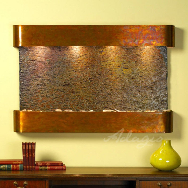 Sunrise Springs - Multi-Color Slate - Rustic Copper - Squared Corners - Soothing Walls