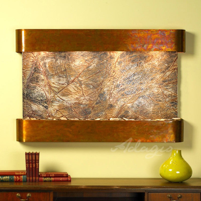 Sunrise Springs - Rainforest Brown Marble - Rustic Copper - Rounded Corners - Soothing Walls