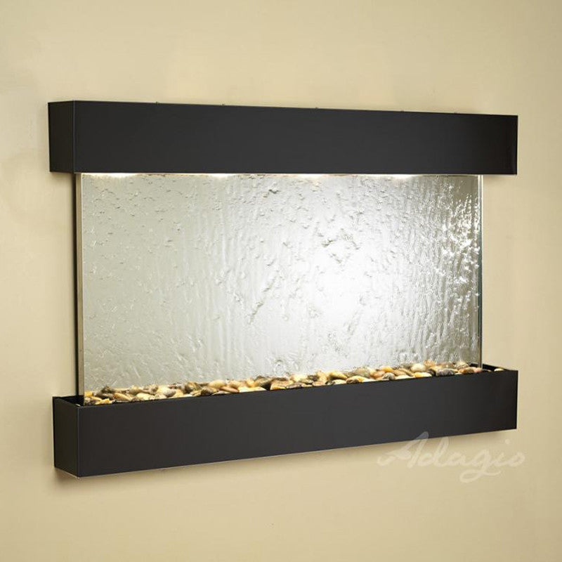 Sunrise Springs: Silver Mirror and Blackened Copper Trim with Squared Corners