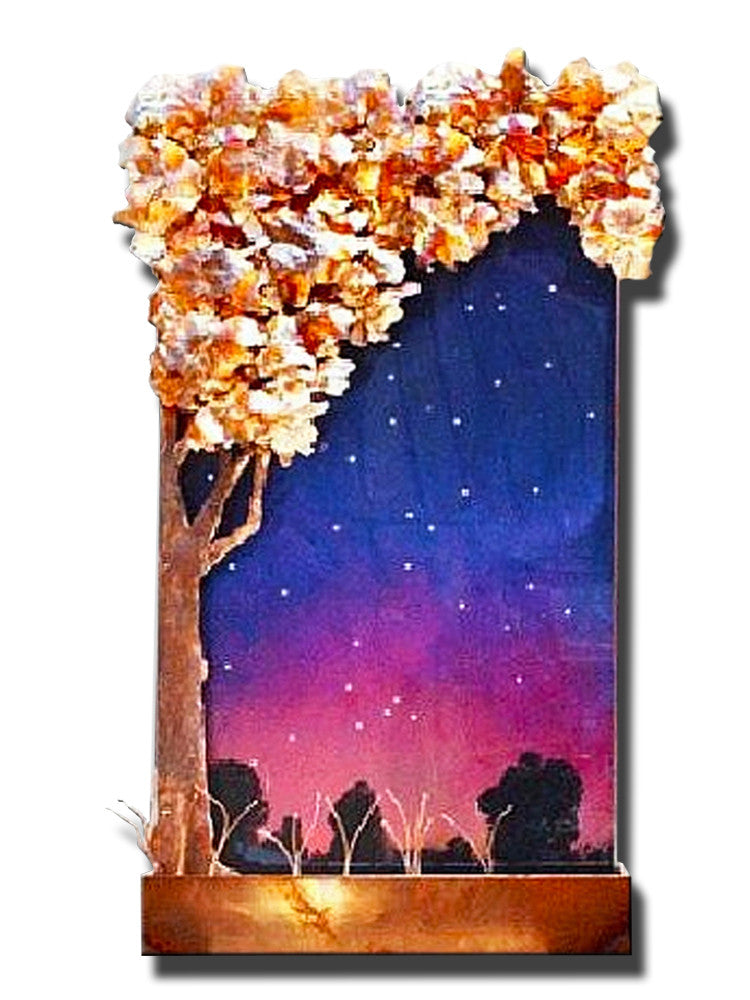 Tall Galaxy Tree Wall Fountain - Soothing Walls