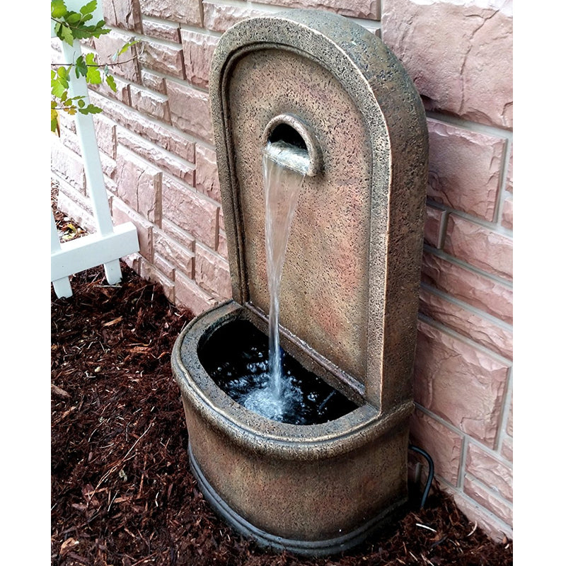 "The Chateau 30"" Wall/Floor Fountain- Soothing Walls"