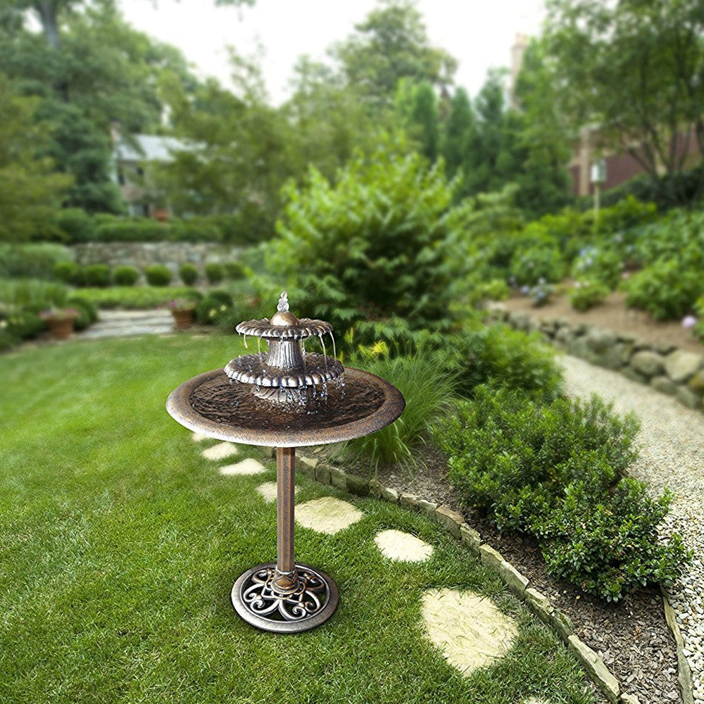 Three Tier Garden Water Fountain - Bronze - Soothing Walls