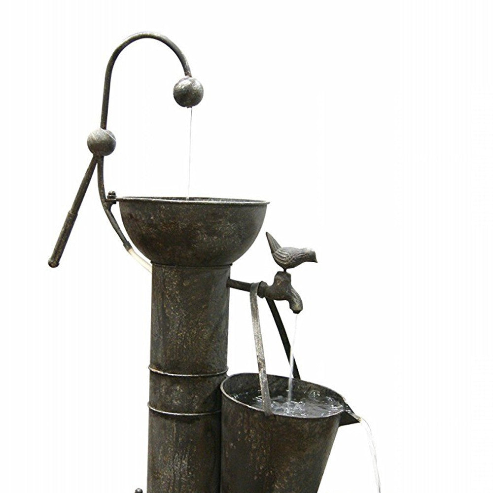 Tiering Tin Garden Water Fountain - Soothing Walls