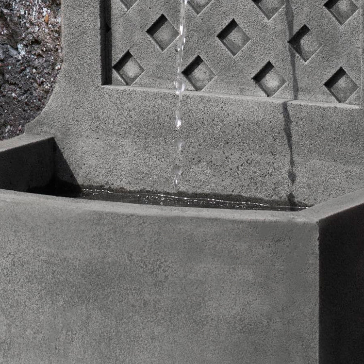 Trelliage Wall Outdoor Fountain -  Outdoor Fountains - Soothing Walls