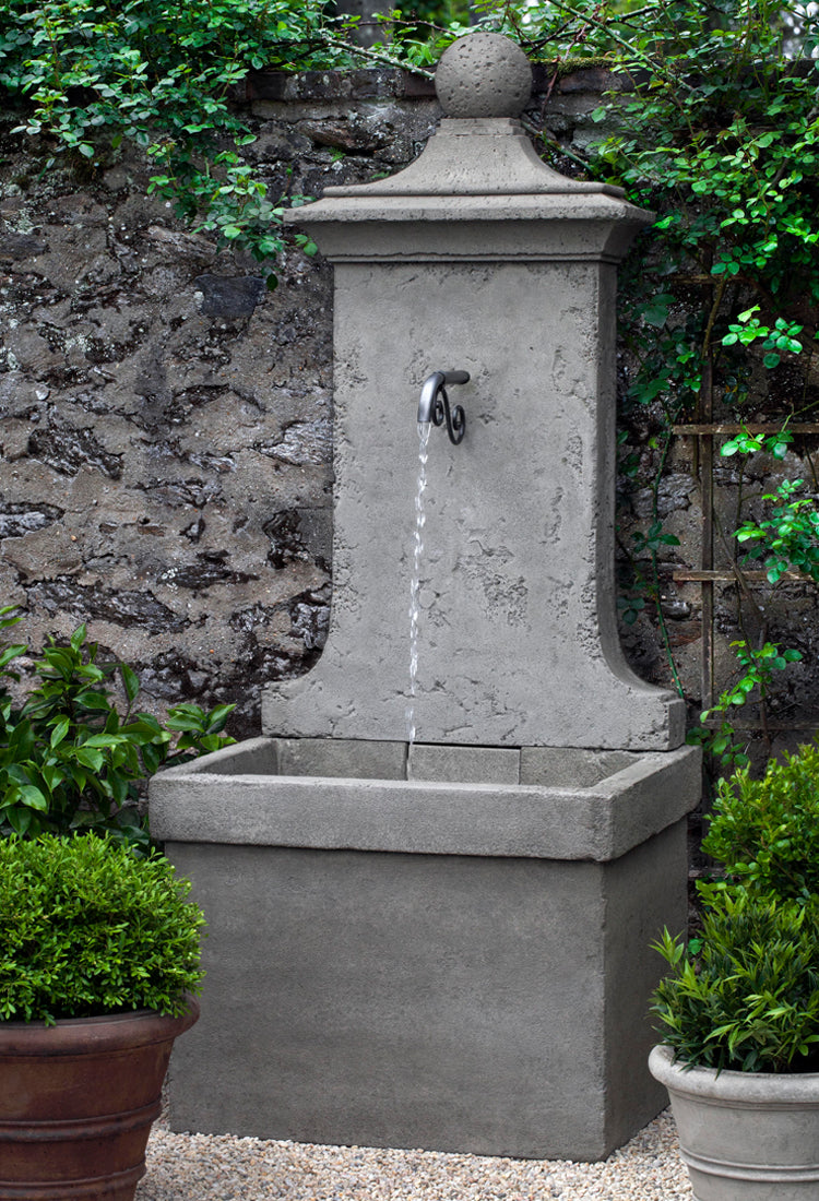 Vence Wall Outdoor Fountain -  Outdoor Fountains - Soothing Walls