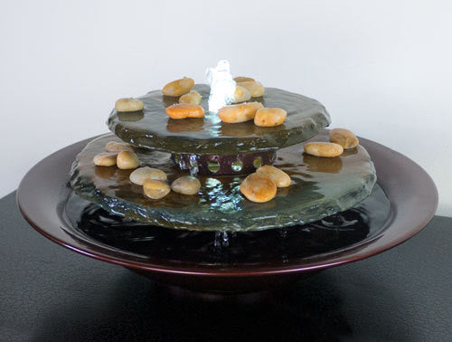 Water Wonders Tranquility Pool Tabletop Fountain Dark Copper Finish - Soothing Walls