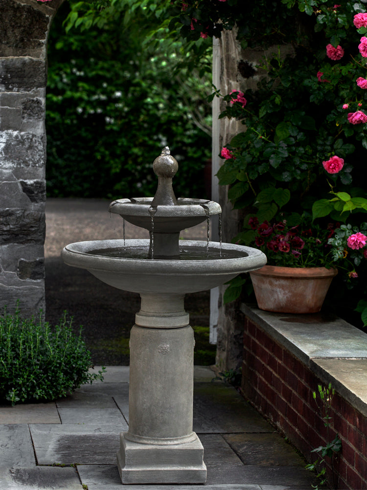 Westover Two Tier Garden Fountain -  Outdoor Fountains - Soothing Walls