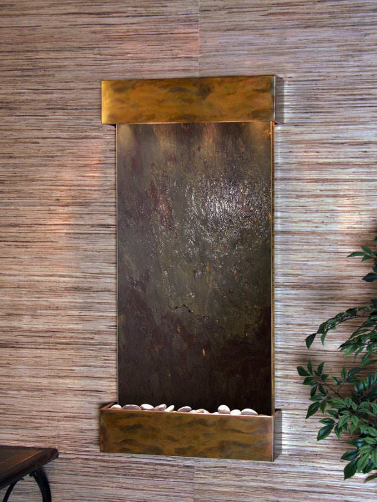 Whispering Creek: Multi-Color FeatherStone and Rustic Copper Trim