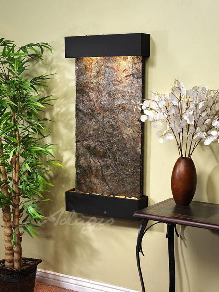 Whispering Creek: Multi-Color Slate and Blackened Copper Trim
