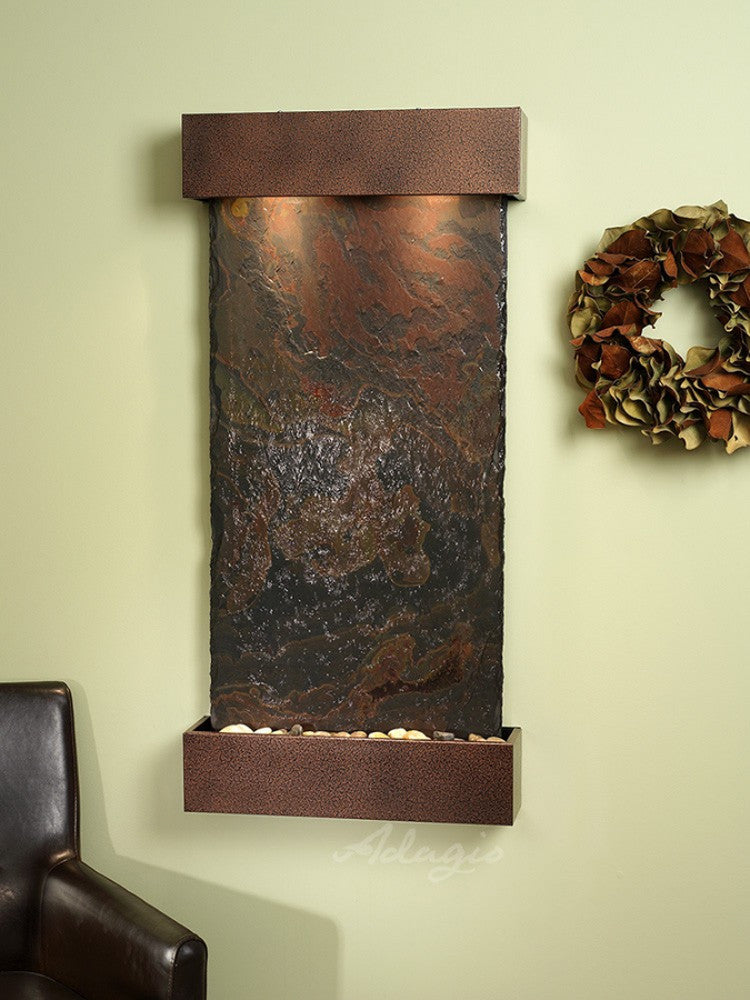 Whispering Creek: Multi-Color Slate and Copper Vein Trim