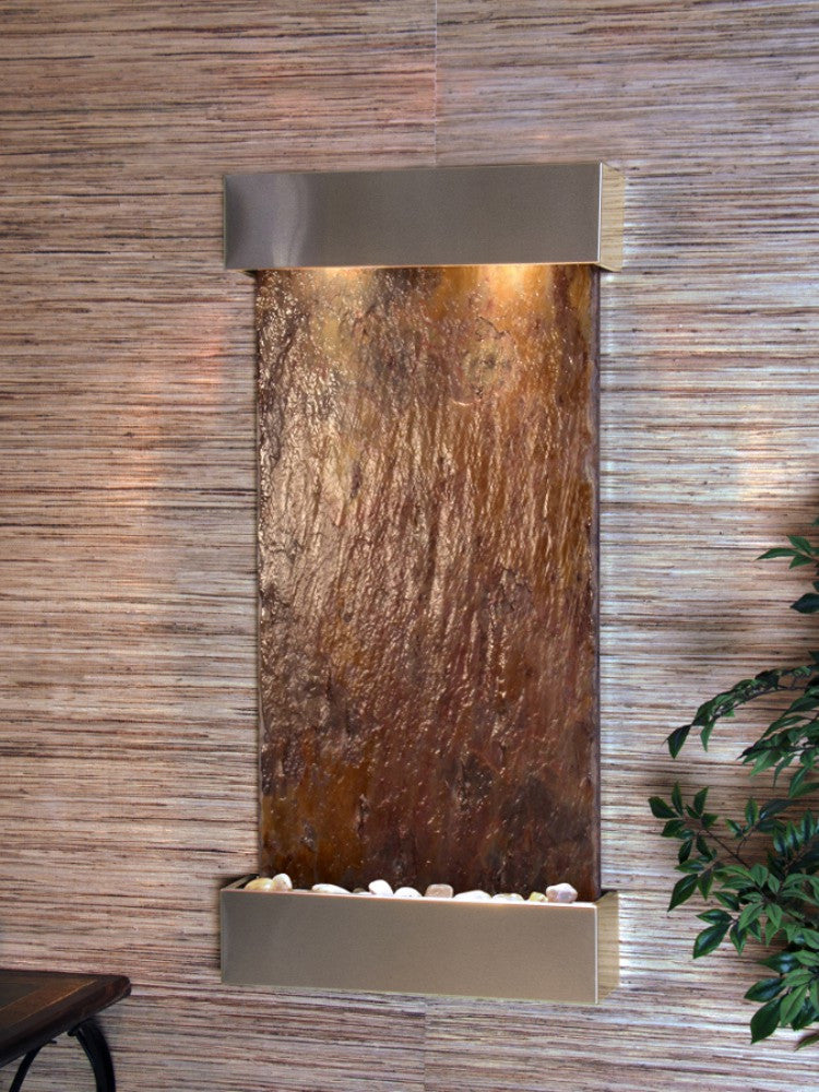 Whispering Creek: Multi-Color Slate and Stainless Steel Trim