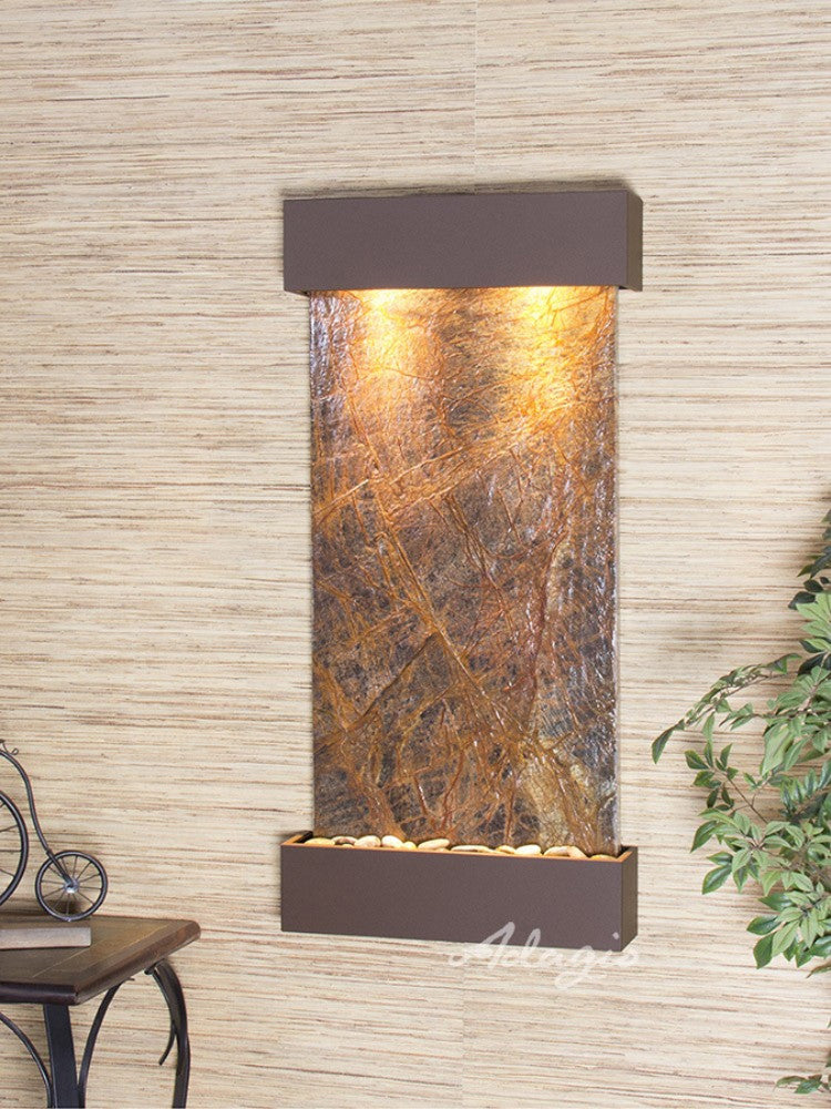 Whispering Creek: Rainforest Brown Marble and Woodland Brown Trim