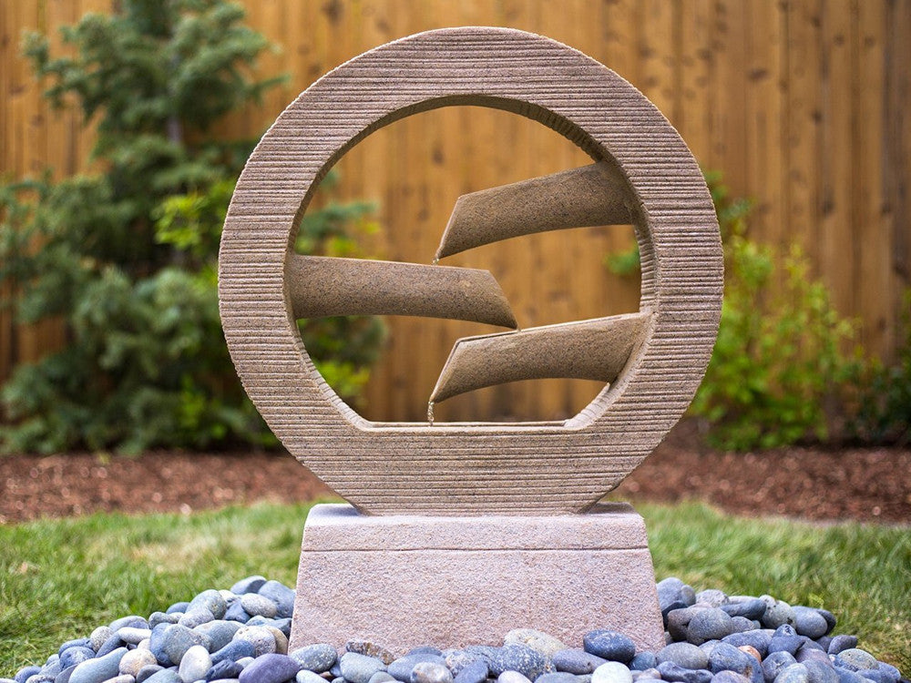 "28"" Zen Drop Garden Fountain - SoothingWalls"