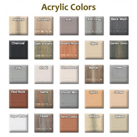 GIST Color Chart - Soothing Walls
