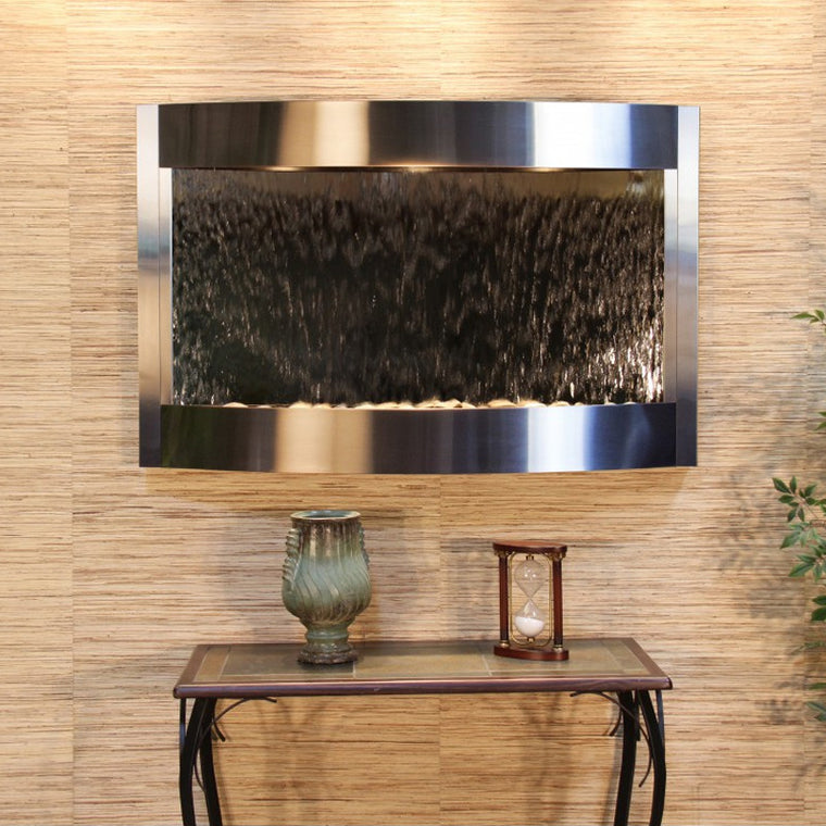 Calming Waters: Silver Mirror and Stainless Steel Trim