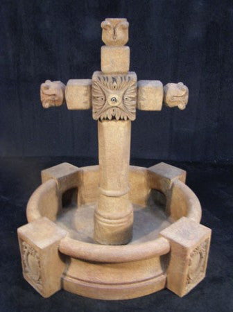 Ancient Cross Fountain with Pool - Soothing Walls