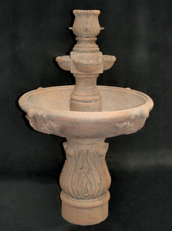 Assisi Tiered Water Fountain with Cobra Pedestal - Soothing Walls