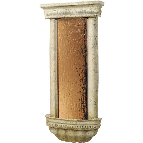 Bellezza Wall Fountain Bronze Mirror and Ancient Stone - Soothing Walls
