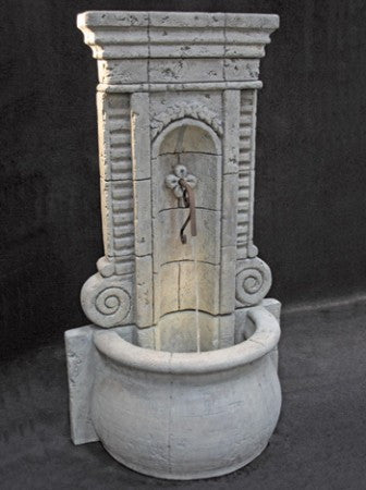 Champagne Outdoor Wall Fountain - Tall - SoothingWalls