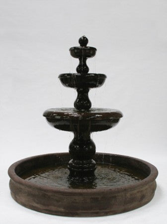 Classic 3-Tier Outdoor Water Fountain with 74 inch Basin - SoothingWalls