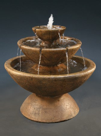 3-Tier Color Bowl with Lips Fountain - Soothing Walls