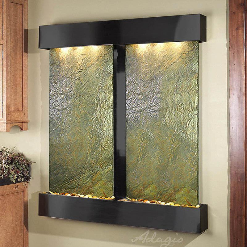 Cottonwood Falls - Green Slate - Blackened Copper - Squared Corners - Soothing Walls