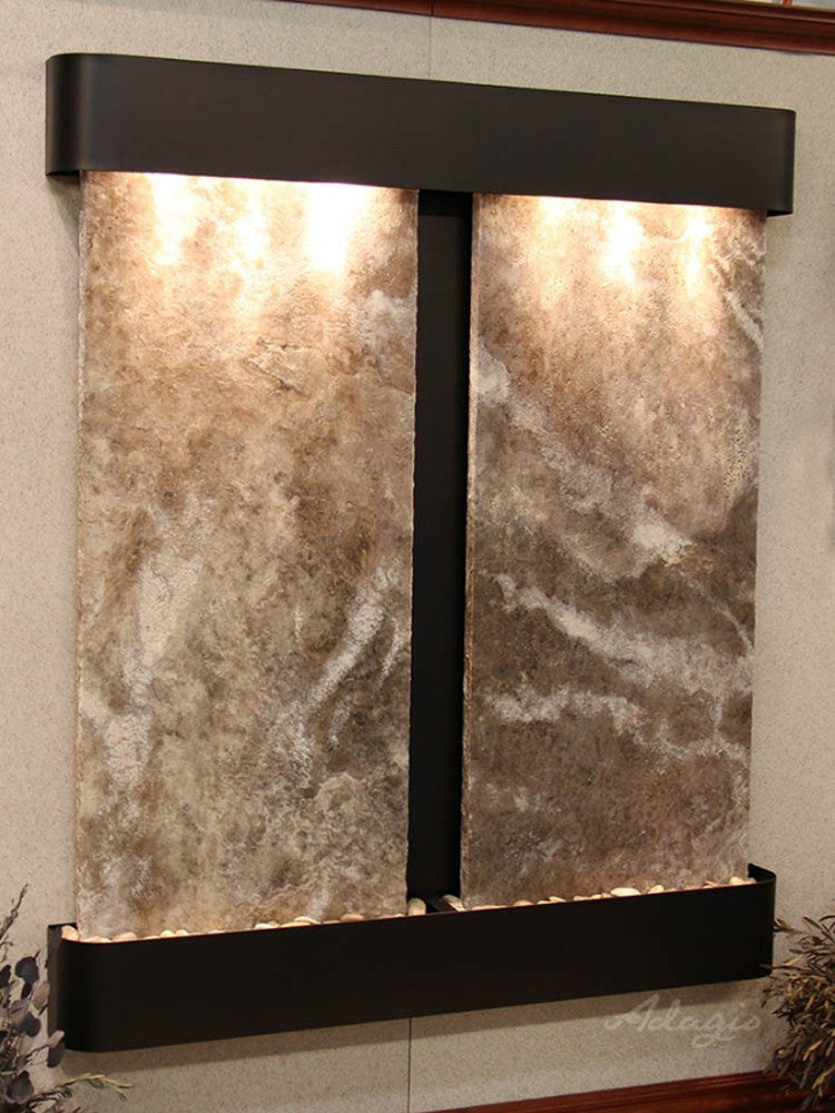 Cottonwood Falls - Magnifico Travertine - Blackened Copper - Rounded Corners - Soothing Walls