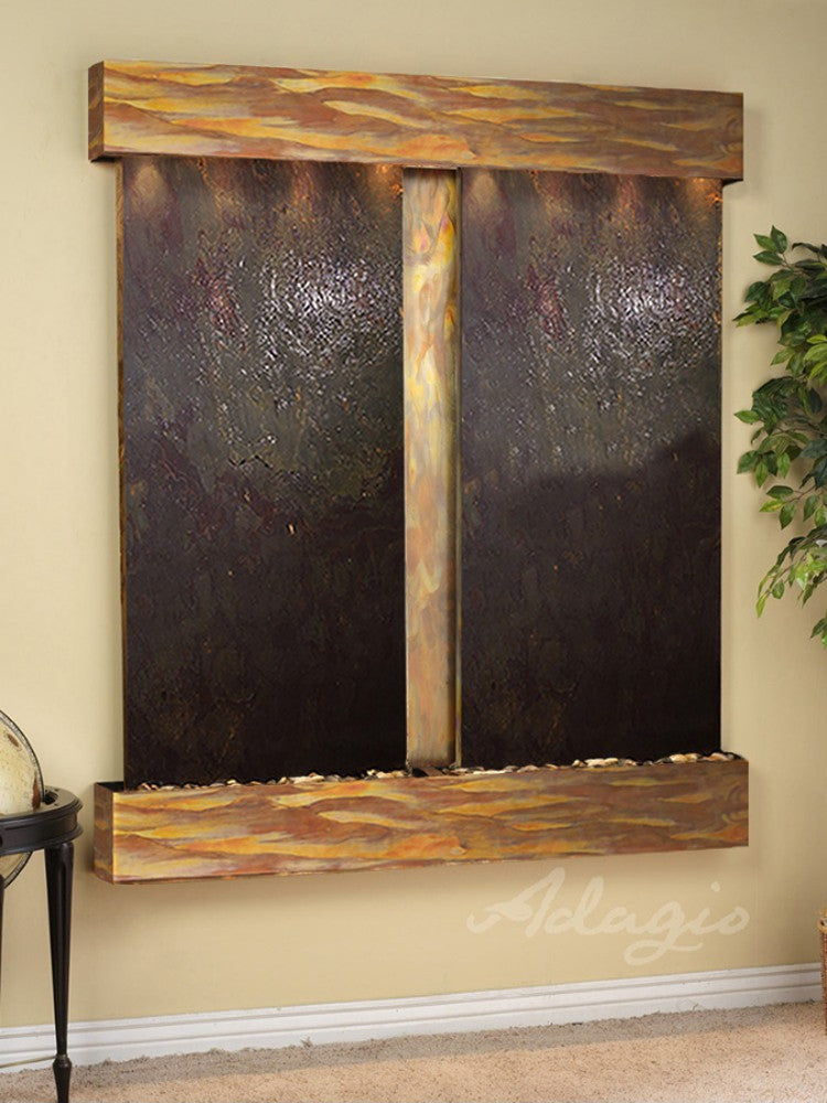 Cottonwood Falls - Multi-Color FeatherStone - Rustic Copper - Squared Corners - Soothing Walls