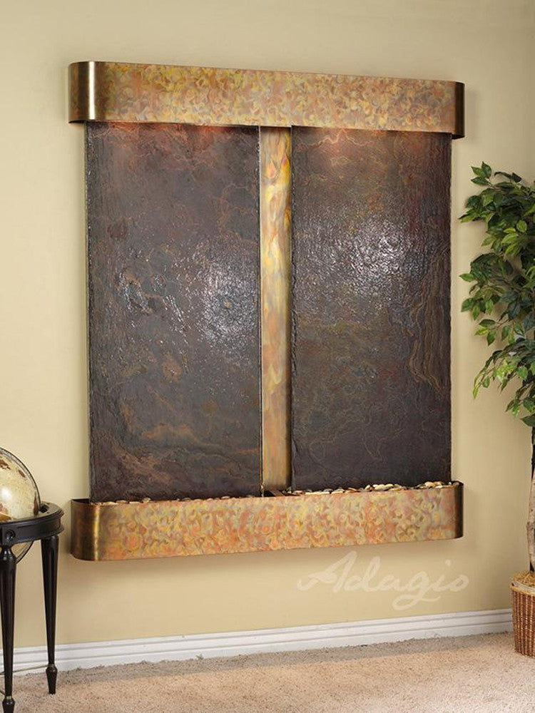 Cottonwood Falls - Multi-Color Slate - Rustic Copper - Rounded Corners - Soothing Walls