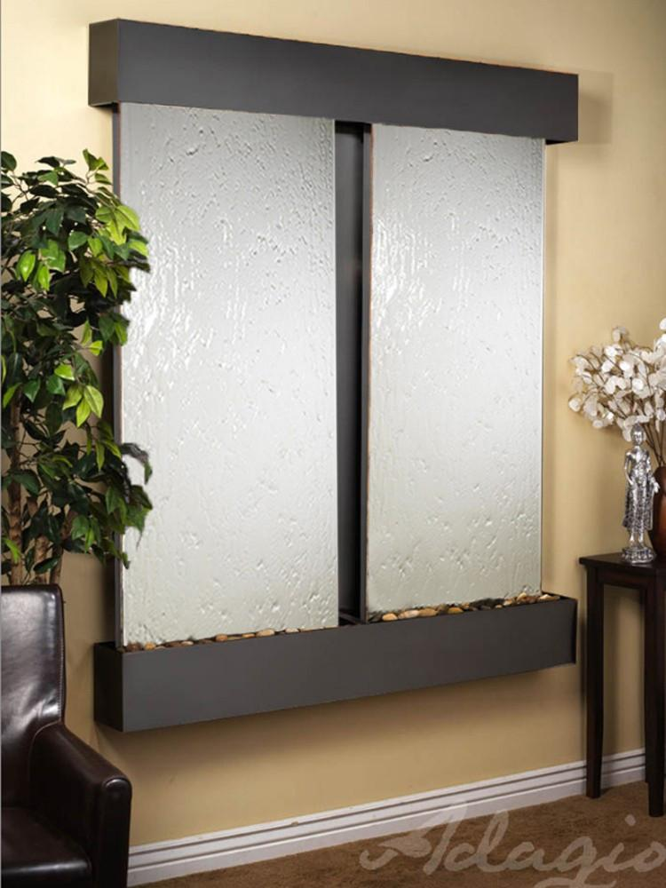 Cottonwood Falls: Silver Mirror and Blackened Copper Trim with Squared Corners