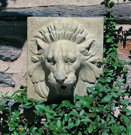 Morris Arboretum Small Lion Plaque Water Feature