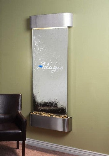 Inspiration Falls Wall Fountain with Logo - Soothing Walls