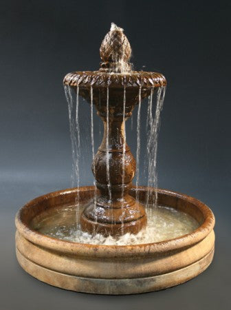 Four Seasons Outdoor Water Fountain with 46 inch Basin -Soothing Walls